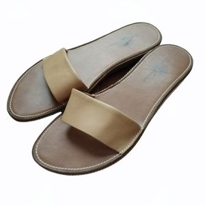 TOMMY BAHAMA Slide on Leather Sandals Spain W8.5